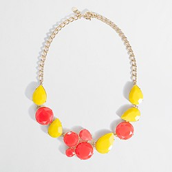 Factory stone cluster necklace