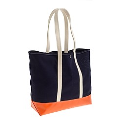Steele Canvas Basket Co.™ for J.Crew colorblock coal bag