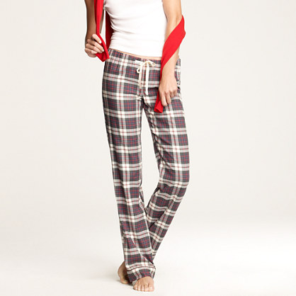 Flannel pajama pant in plaid