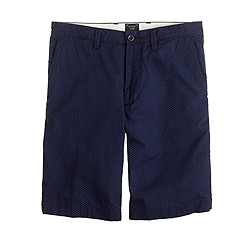 "11"" club short in indigo dot"