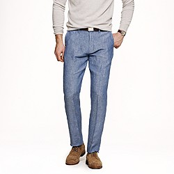Bowery slim pant in Irish linen