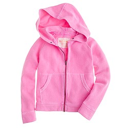 Girls' wafer terry hoodie