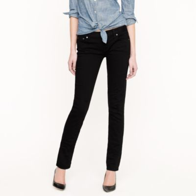 Matchstick jean in overdyed black denim