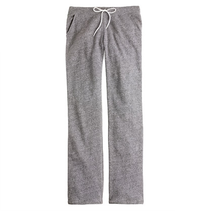 Wide-leg fleece pant