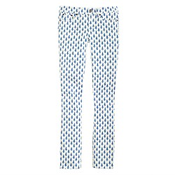 Toothpick jean in thistle print
