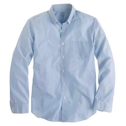 Lightweight shirt in pencil stripe