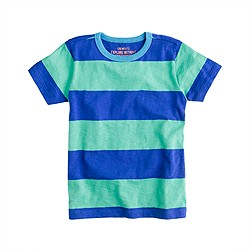 Boys' ringer tee in wide stripe