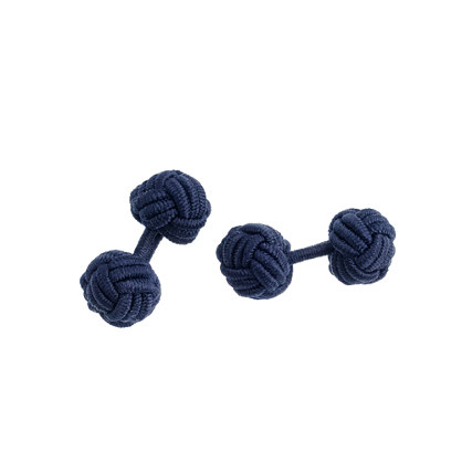 Fabric knot cuff links