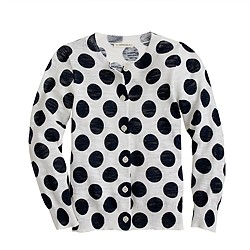 Girls' Caroline cardigan in big dot