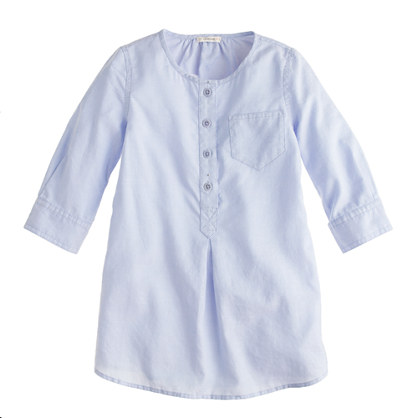 Girls' tunic in tissue oxford