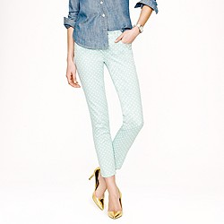 Cropped matchstick jean in dotted spearmint