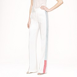 Collection snakeskin-stripe trouser