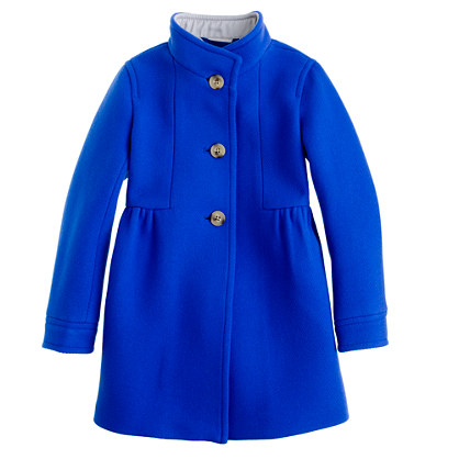 Girls' stadium-cloth marquee coat