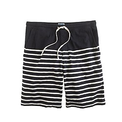 Heavyweight cotton short in stripe