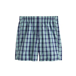 Boys' yarn-dyed cotton boxers