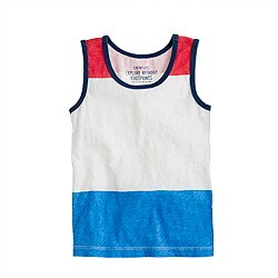 Boys' tank in colorblock