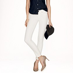 Toothpick jean in white denim