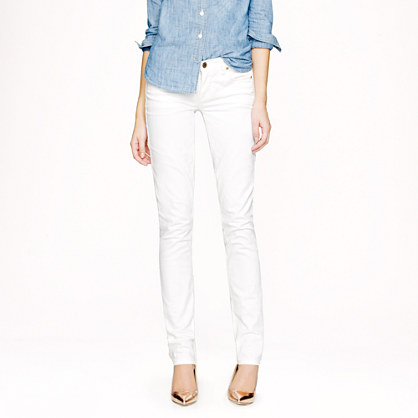 Tall matchstick jean in white denim