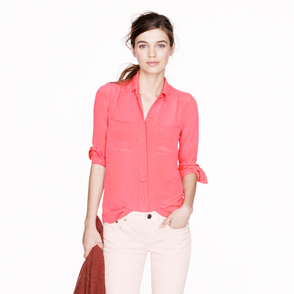 Collection luxe silk crepe blouse