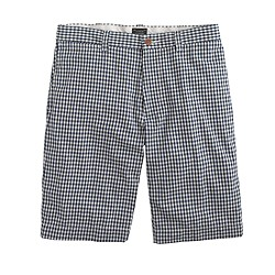"9"" stanton short in indigo gingham"