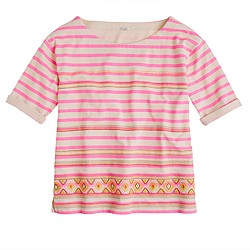 Stitchwork stripe top