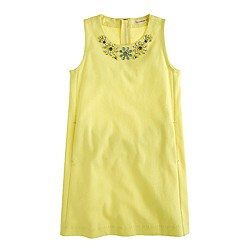 Girls' sleeveless necklace dress