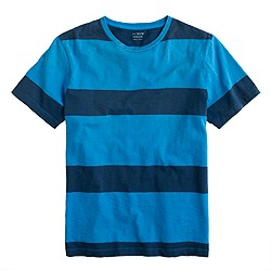 Broken-in tee in ocean stripe