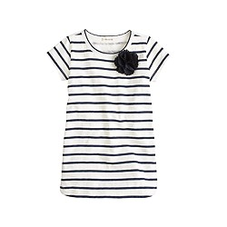 Girls' stripe corsage tunic