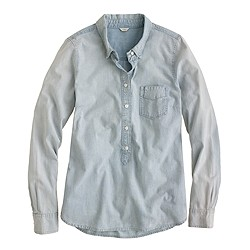 Faded chambray popover