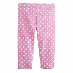 Girls' everyday capri leggings in polka dot