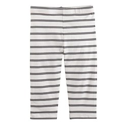 Girls' everyday capri leggings in summer stripe