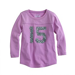 Girls' bejeweled 15 tee