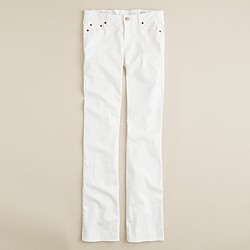 New bootcut jean in white denim