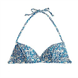School of fish french halter top