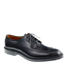 Alden® for J.Crew black leather longwing bluchers