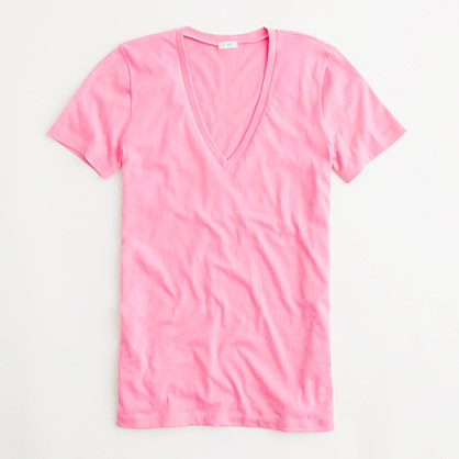 Factory tissue v-neck tee