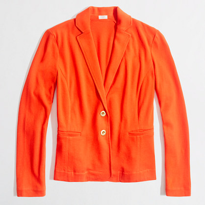 Factory knit pocket blazer