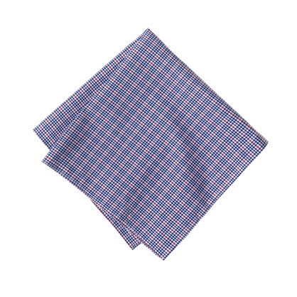 Augustine plaid pocket square