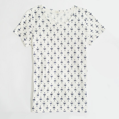 Factory dotted ikat graphic tee