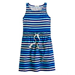 Girls' multistripe tank dress