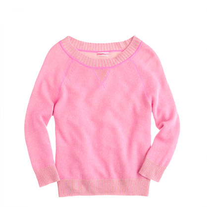 Cashmere two-tone sweatshirt