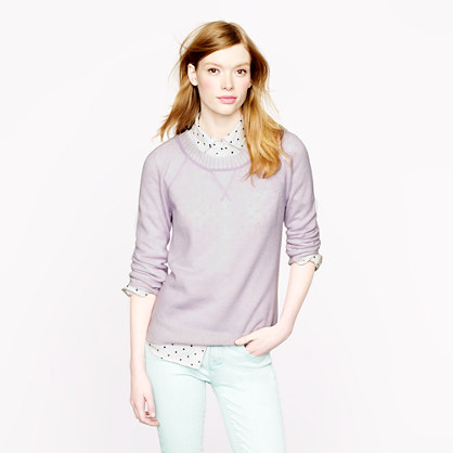 Collection cashmere plaited sweatshirt