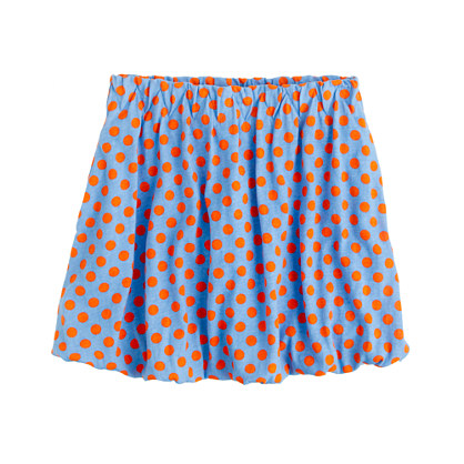 Girls' polka-dot bubble skirt