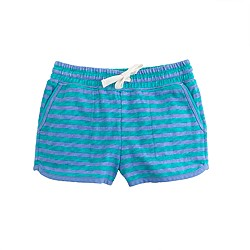 Girls' pull-on knit short in stripe