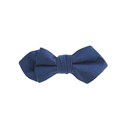 Boys' navy silk bow tie