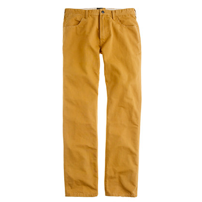Slim-straight washed cotton jean