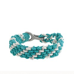Braided rope bracelet in stripe