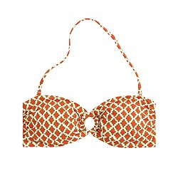 Block print ring bandeau top