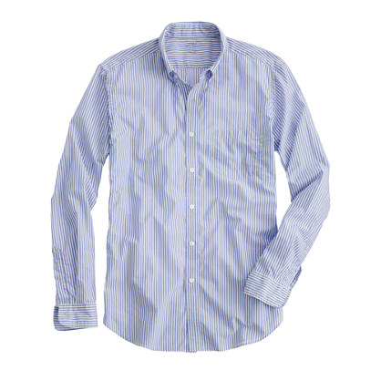 Slim Secret Wash lightweight shirt in banker stripe