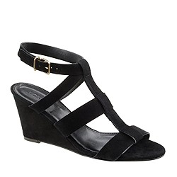 Olympia suede  wedges
